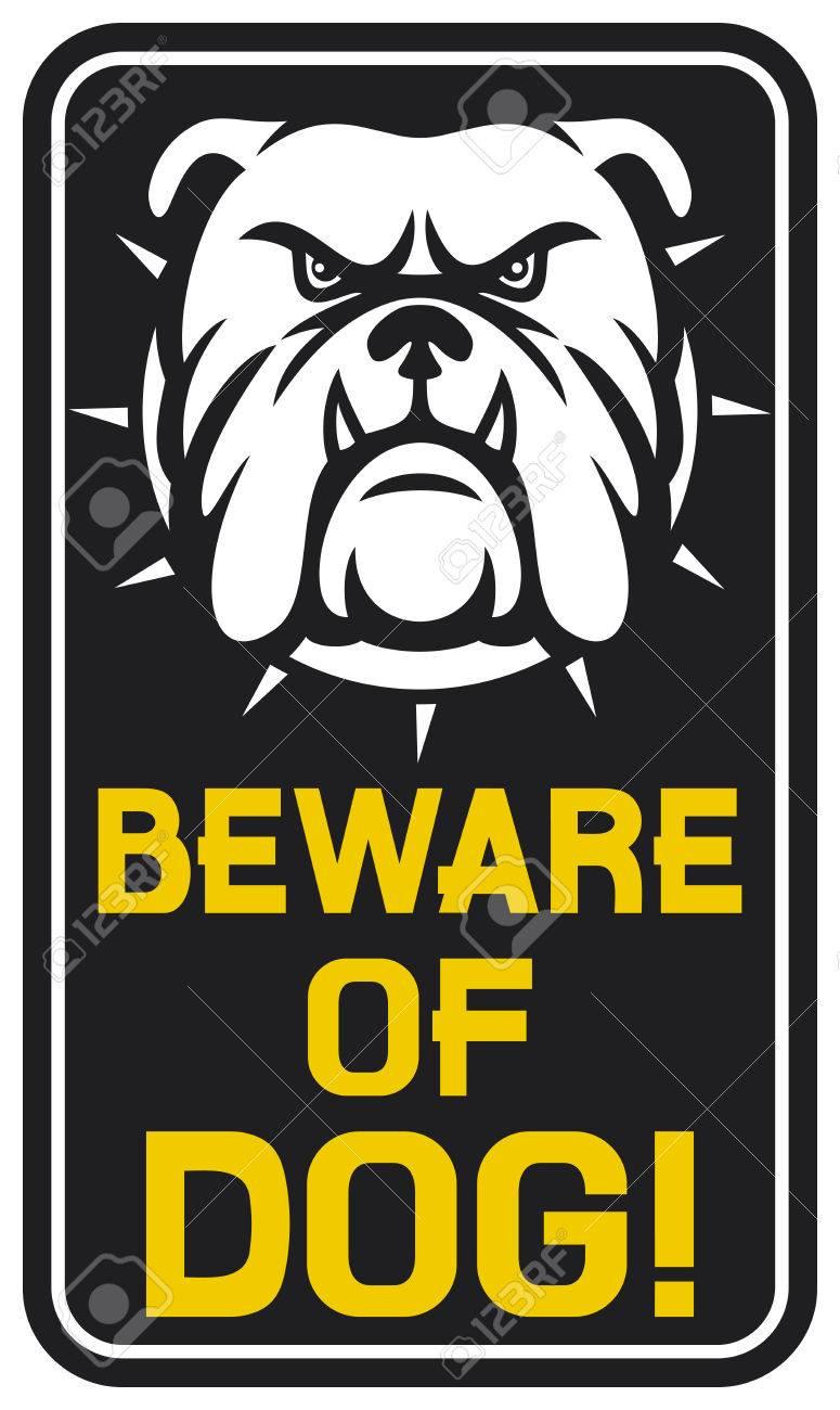 beware of dog sign  beware of dog design, beware of dog label Stock Vector - 28297835