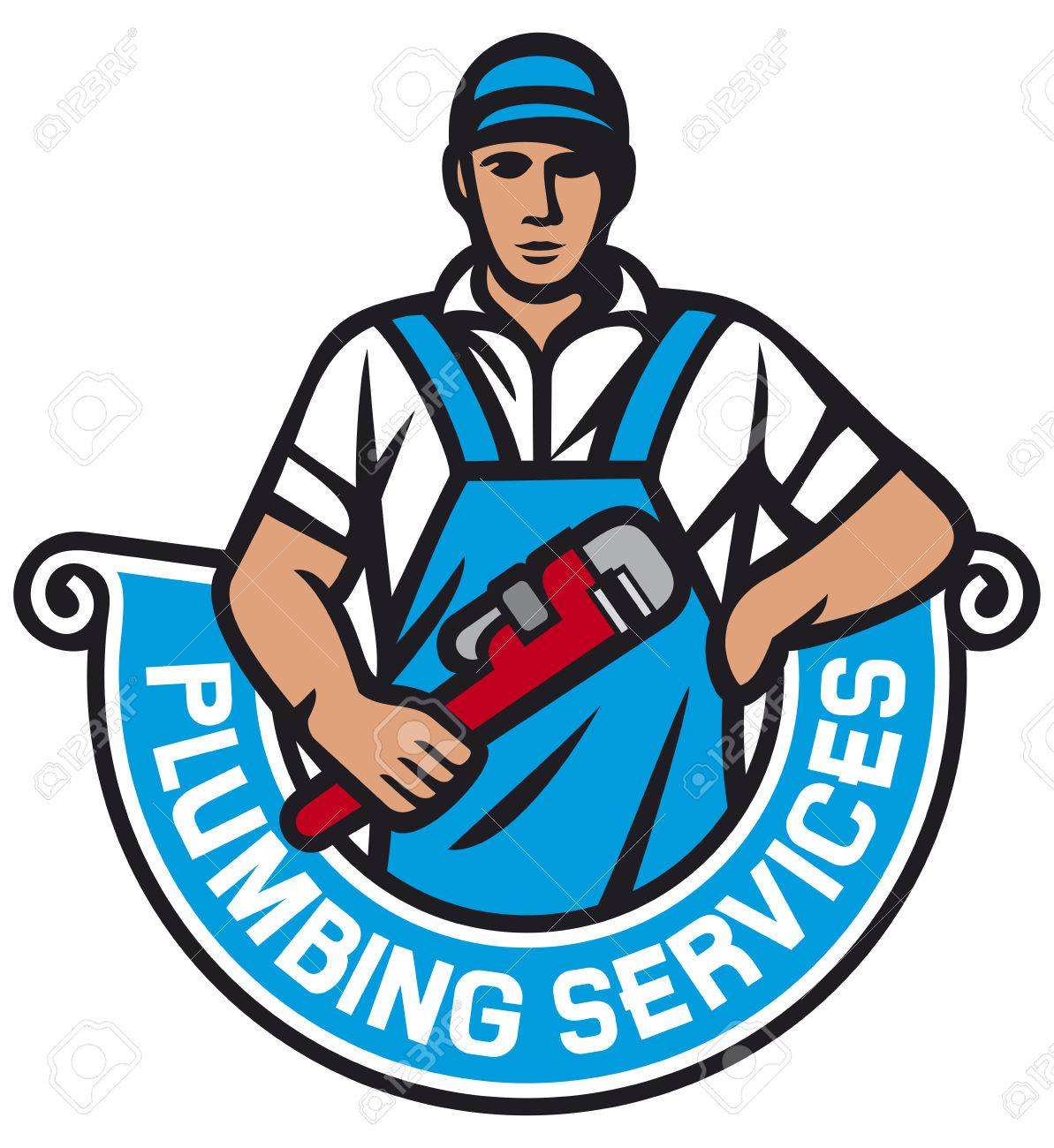 plumber holding a wrench plumbing services plumber holding