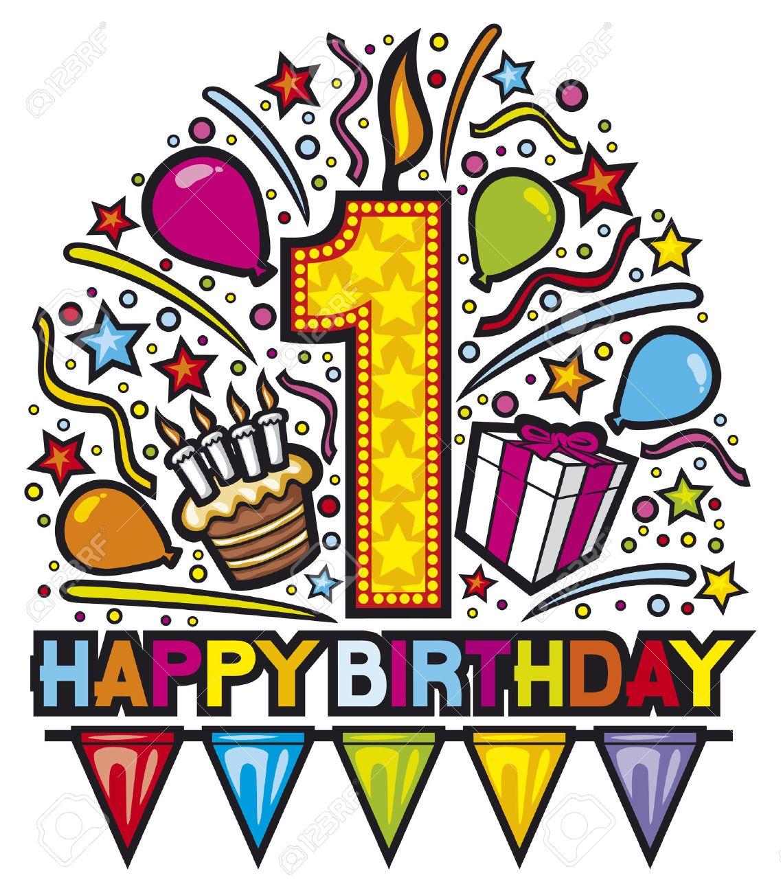 Happy first birthday design happy birthday party happy birthday happy first birthday design happy birthday party happy birthday label birthday card bookmarktalkfo Choice Image