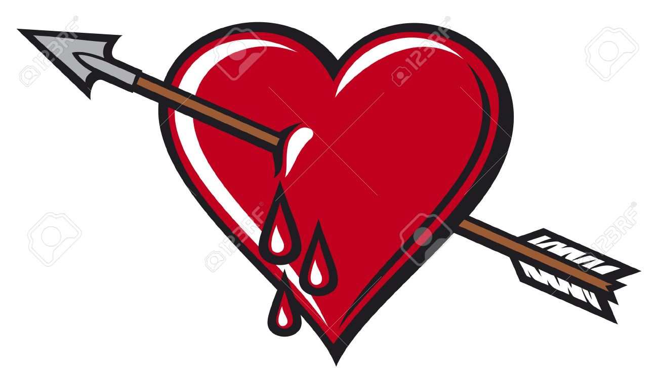 heart with arrow design royalty free cliparts vectors and stock rh 123rf com heart with arrow coloring pages heart with arrow svg