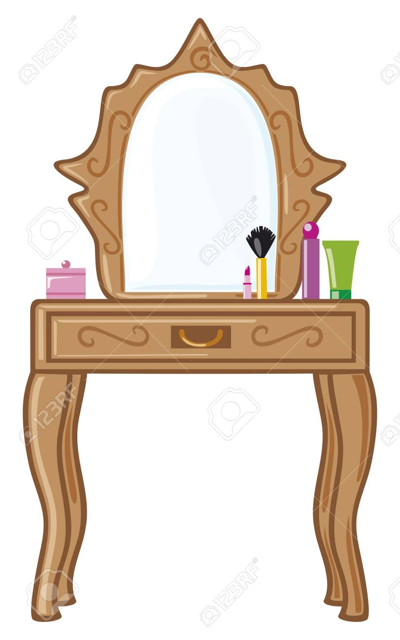 Bedroom Mirror Dressing Table Royalty Free Cliparts Vectors And
