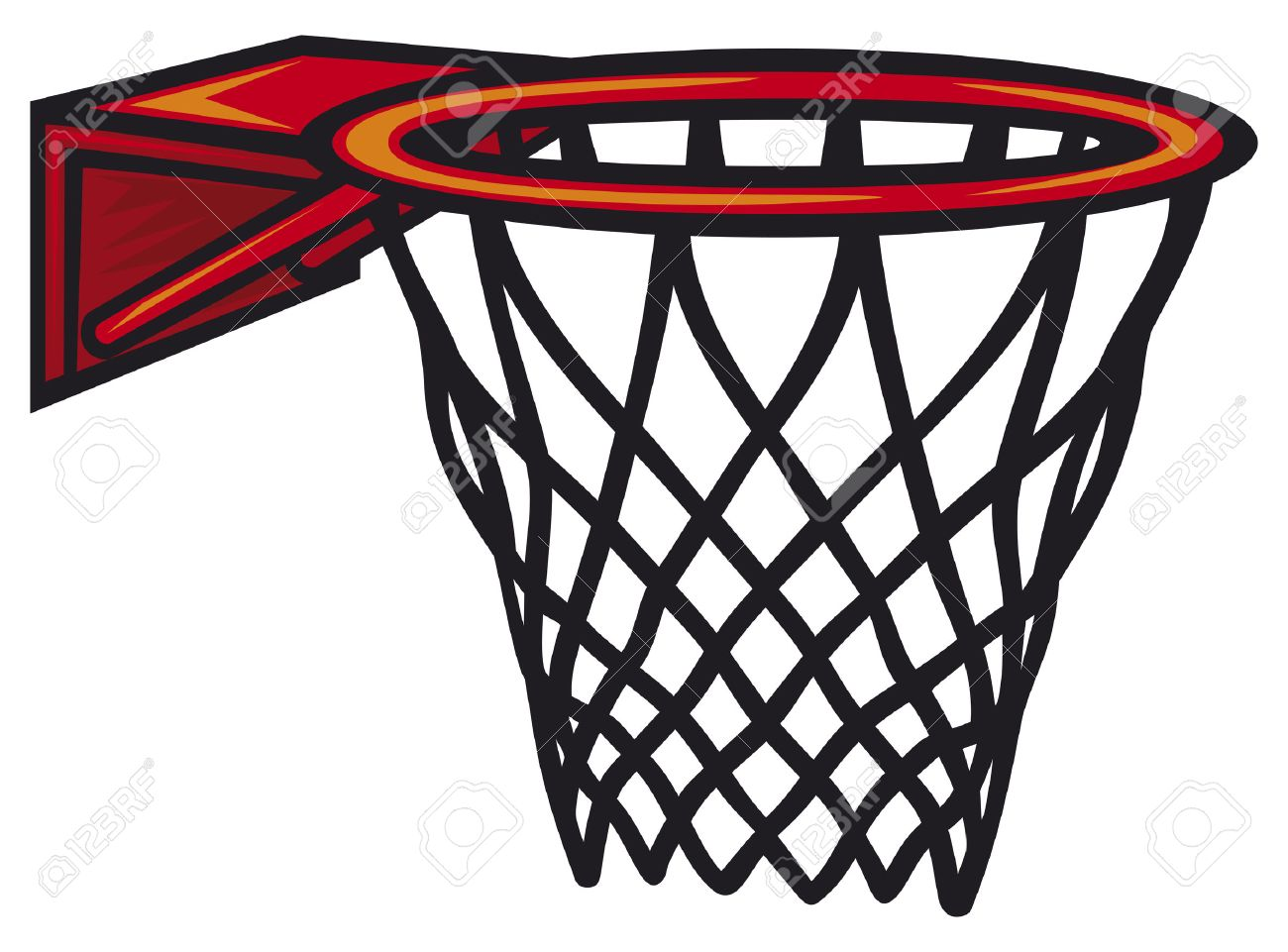 basketball hoop vector illustration royalty free cliparts vectors rh 123rf com basketball going through net clipart basketball going through net clipart