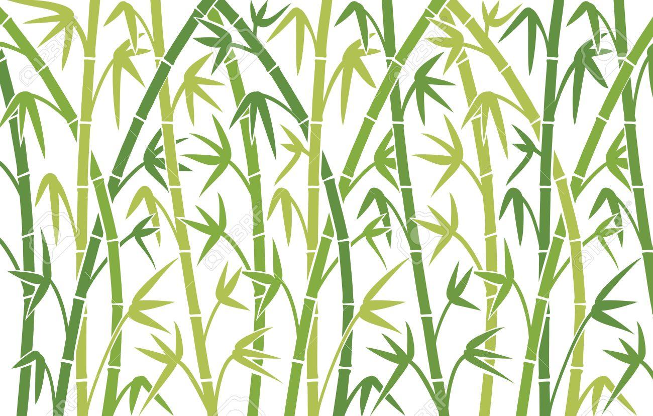 Vektor Hintergrund Mit Grunen Bambusstamme Nahtlose Bambus