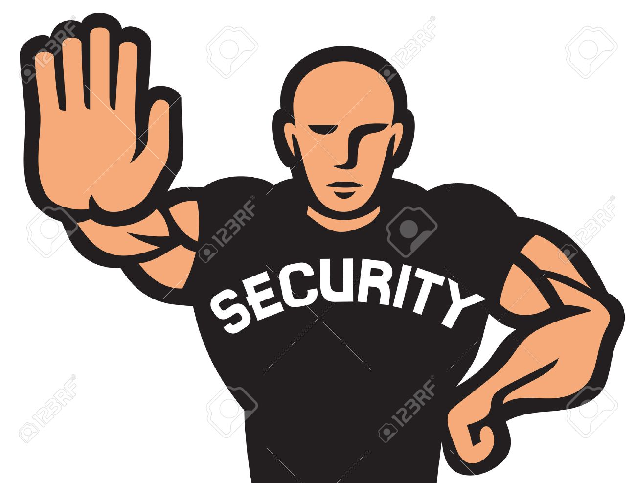 Security Man Of Nightclub Security Guard Of Nightclub, Bouncer ...