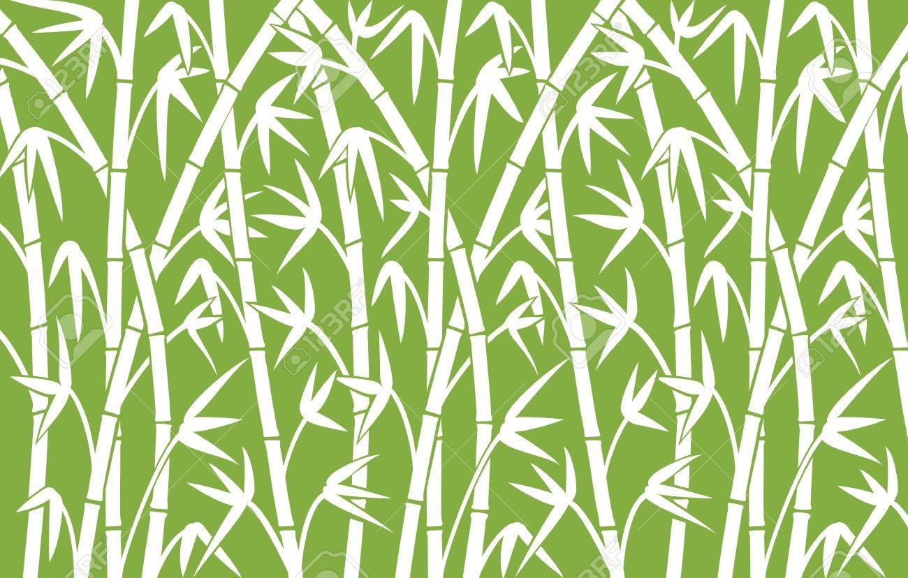Hintergrund Mit Grunen Bambusstamme Bambus Vektor Illustration