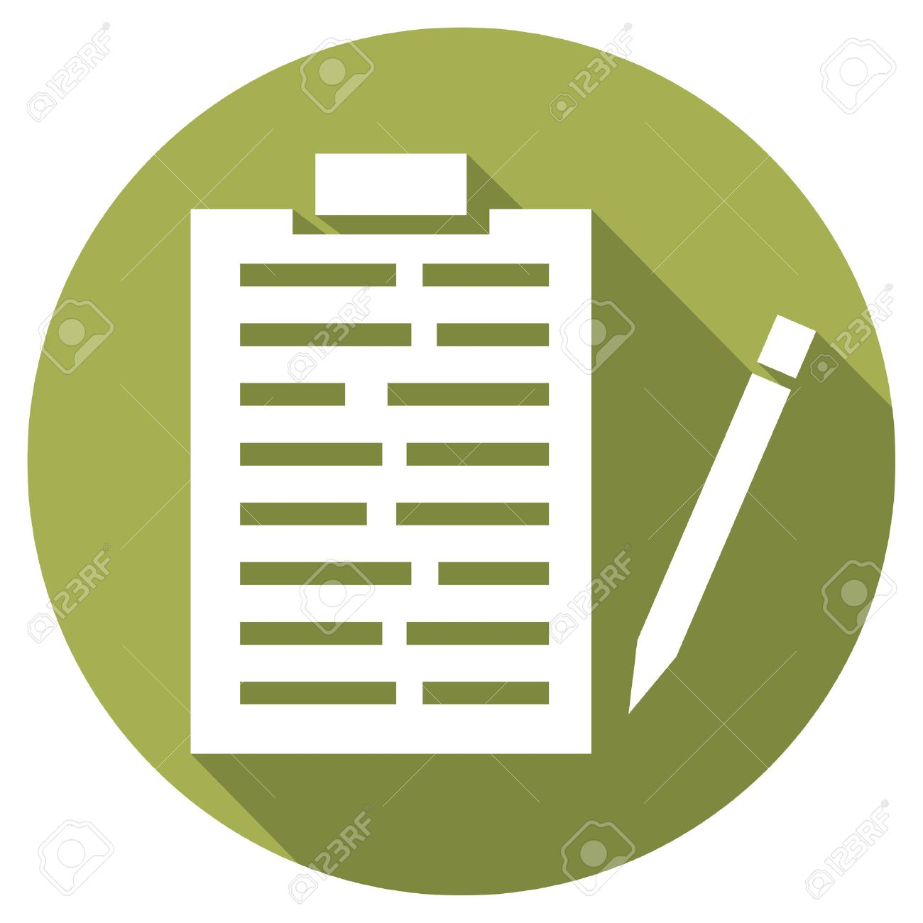 medical records and pencil flat icon medical report icon royalty