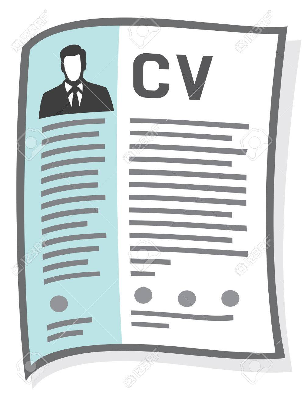 Resume And Cv Icon Curriculum Vitae Icon Royalty Free Cliparts