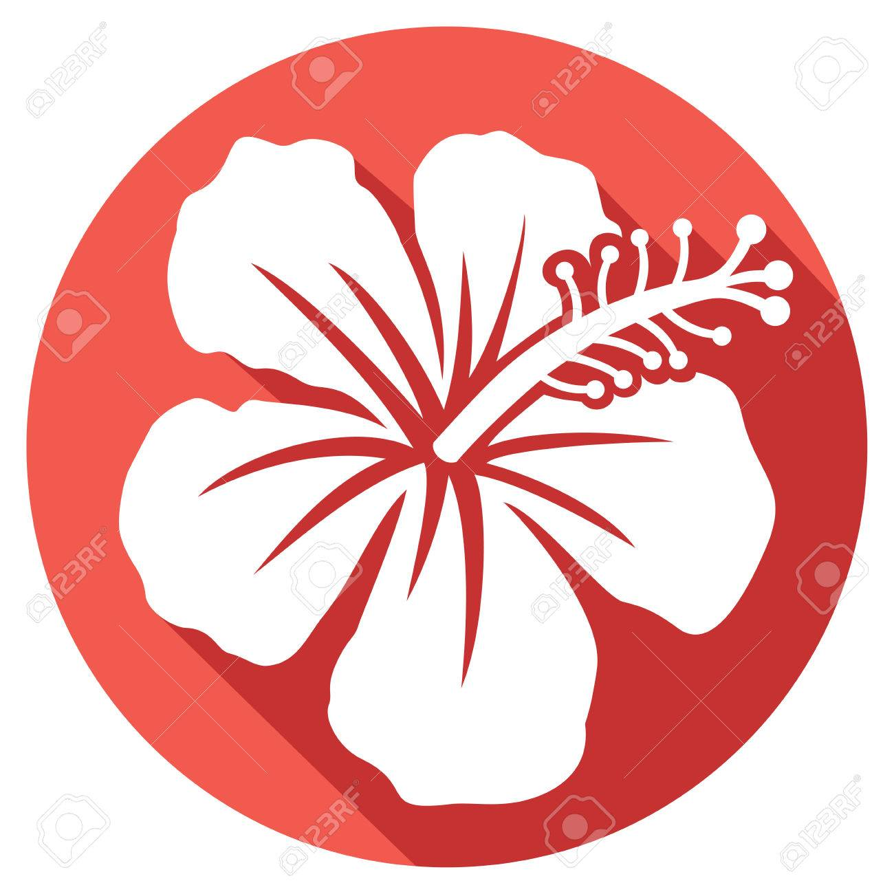 Hibiscus flower flat icon royalty free cliparts vectors and stock hibiscus flower flat icon stock vector 55363486 izmirmasajfo Image collections