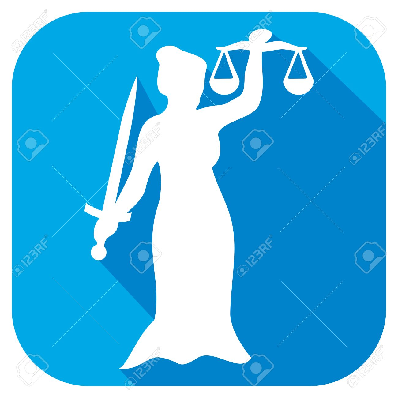 Justice Statue Flat Icon Scales Of Justice Symbol Lady Justice