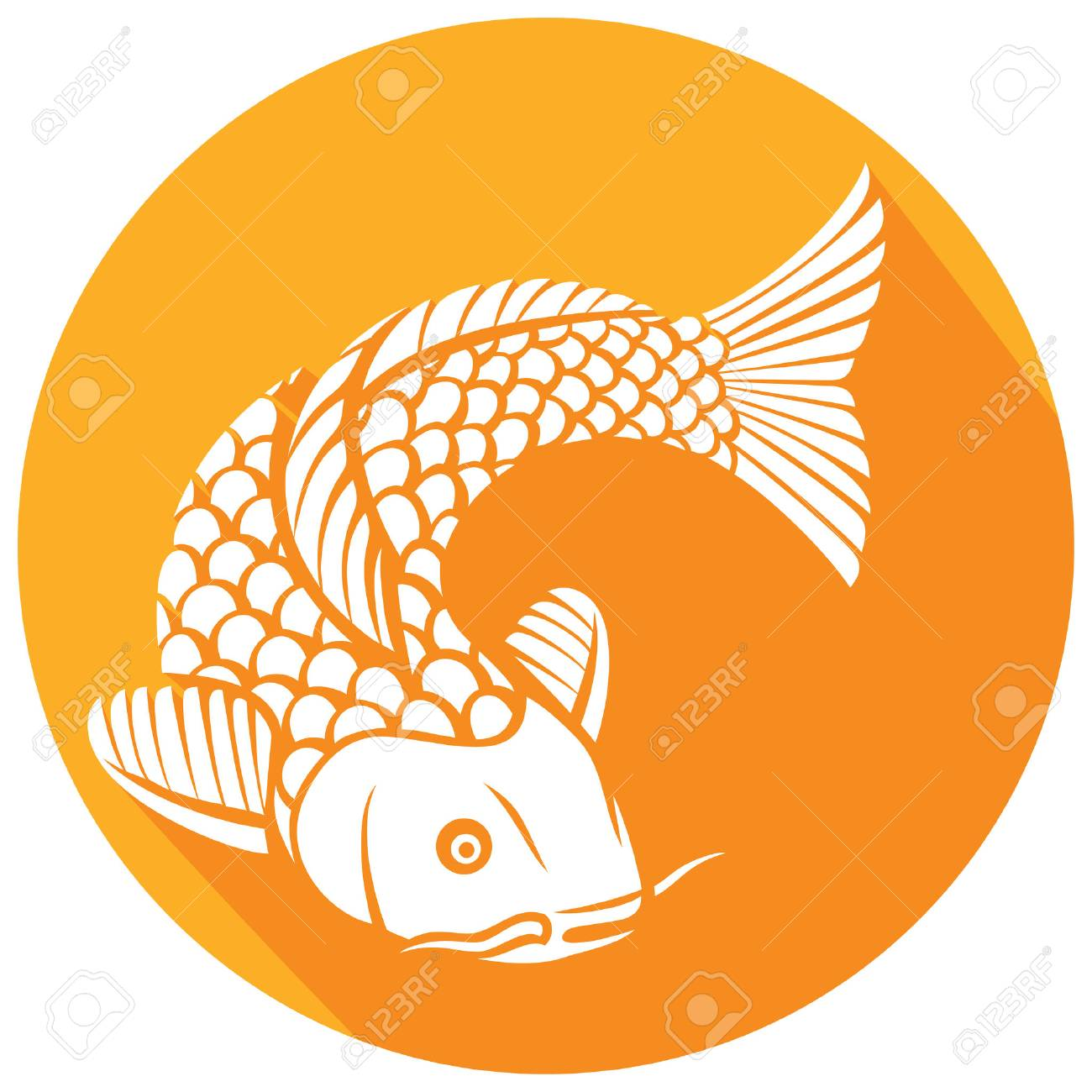 Koi fish flat icon japanese or chinese inspired koi carp fish koi fish flat icon japanese or chinese inspired koi carp fish stock vector buycottarizona Gallery