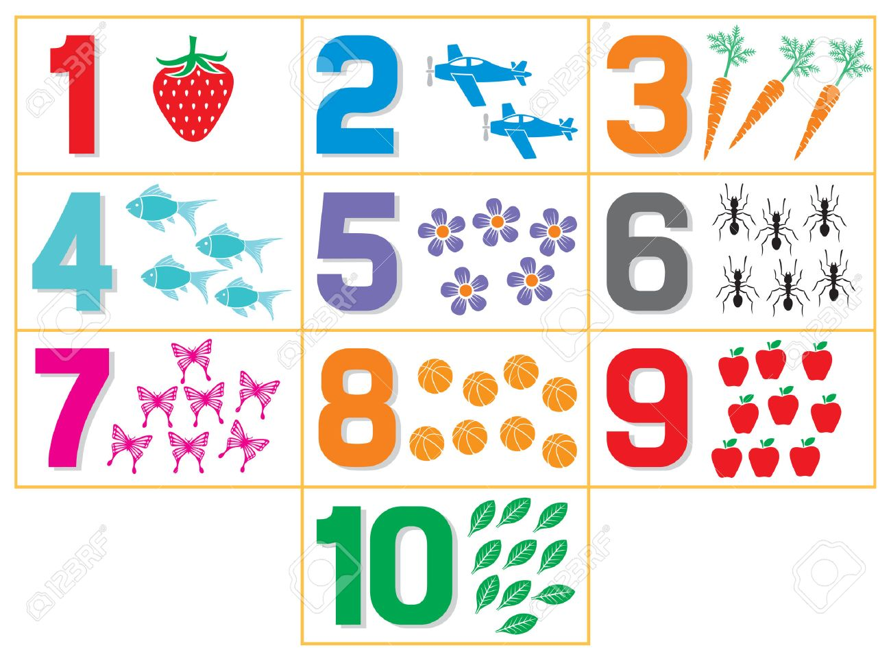 worksheet. Learning Numbers. Drfanendo Worksheets for Elementary ...