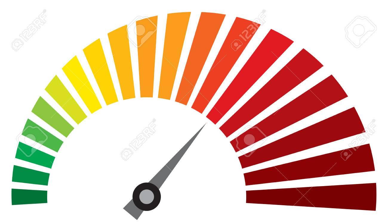vector speedometer (dashboard speedometer icon) - 55366107