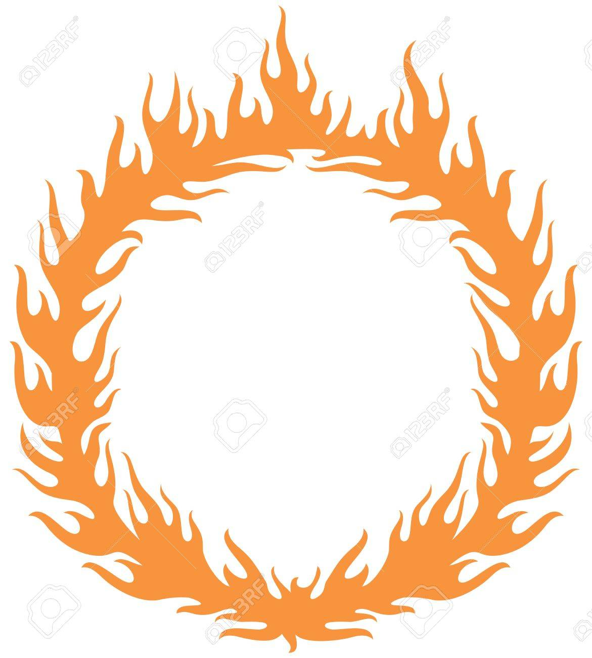 a fiery ring burning hoop in the fire vector illustration royalty rh 123rf com fire vector ai fire vector tutorial