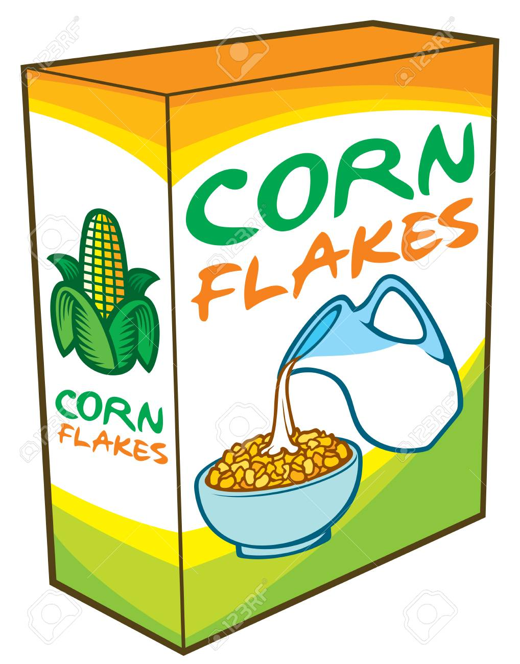 Image result for cornflakes clipart