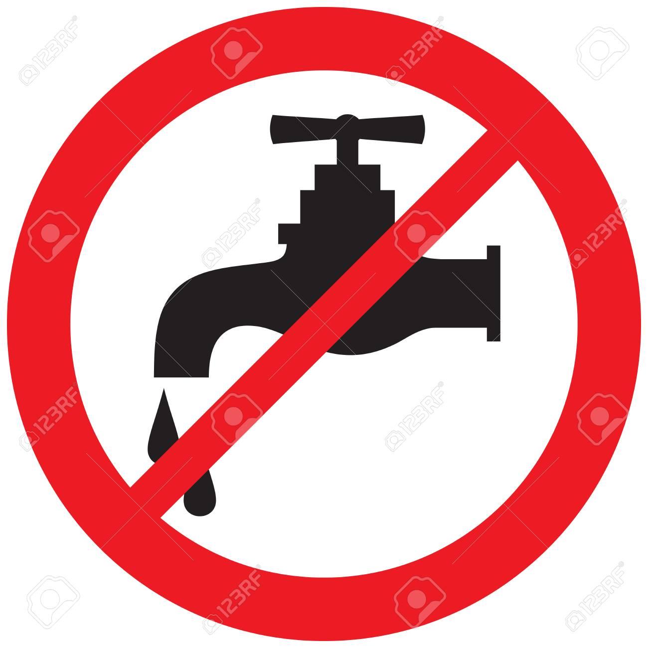 no water tap symbol - 101210505