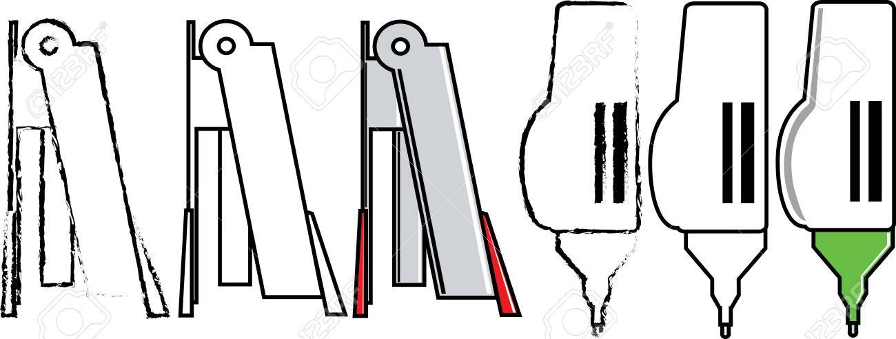 Staple and correction pen Stock Vector - 16429196