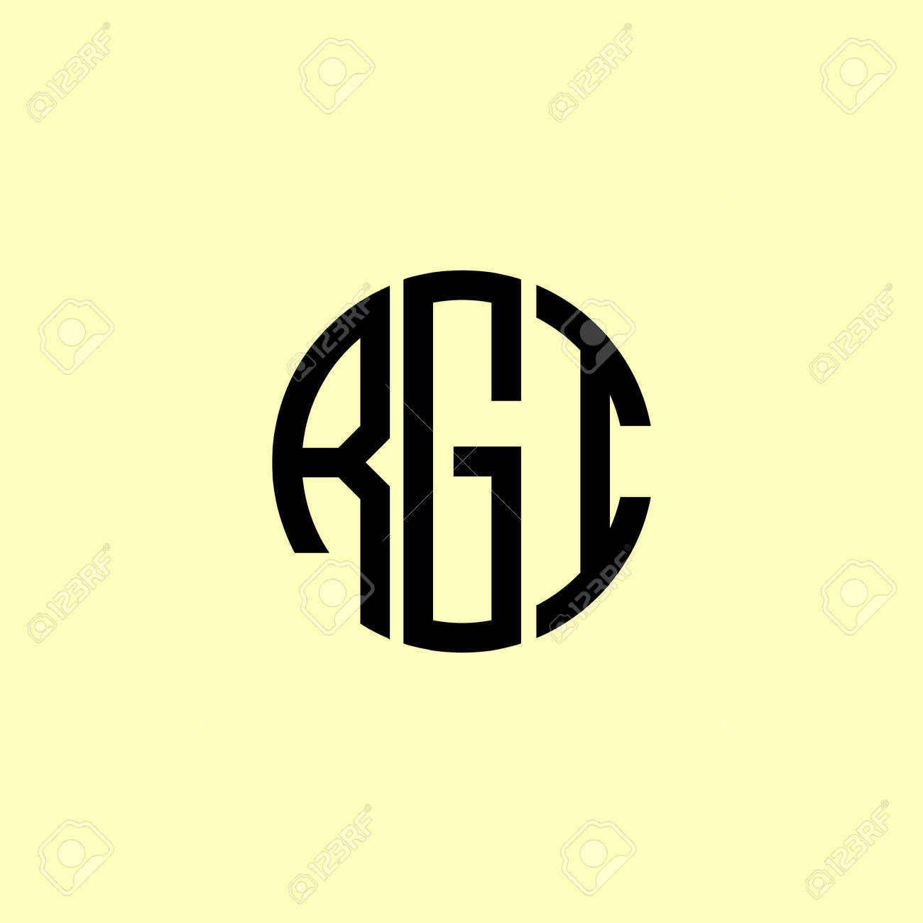 Creative Rounded Initial Letters RGI Logo. It will be suitable for which company or brand name start those initial. - 168084752