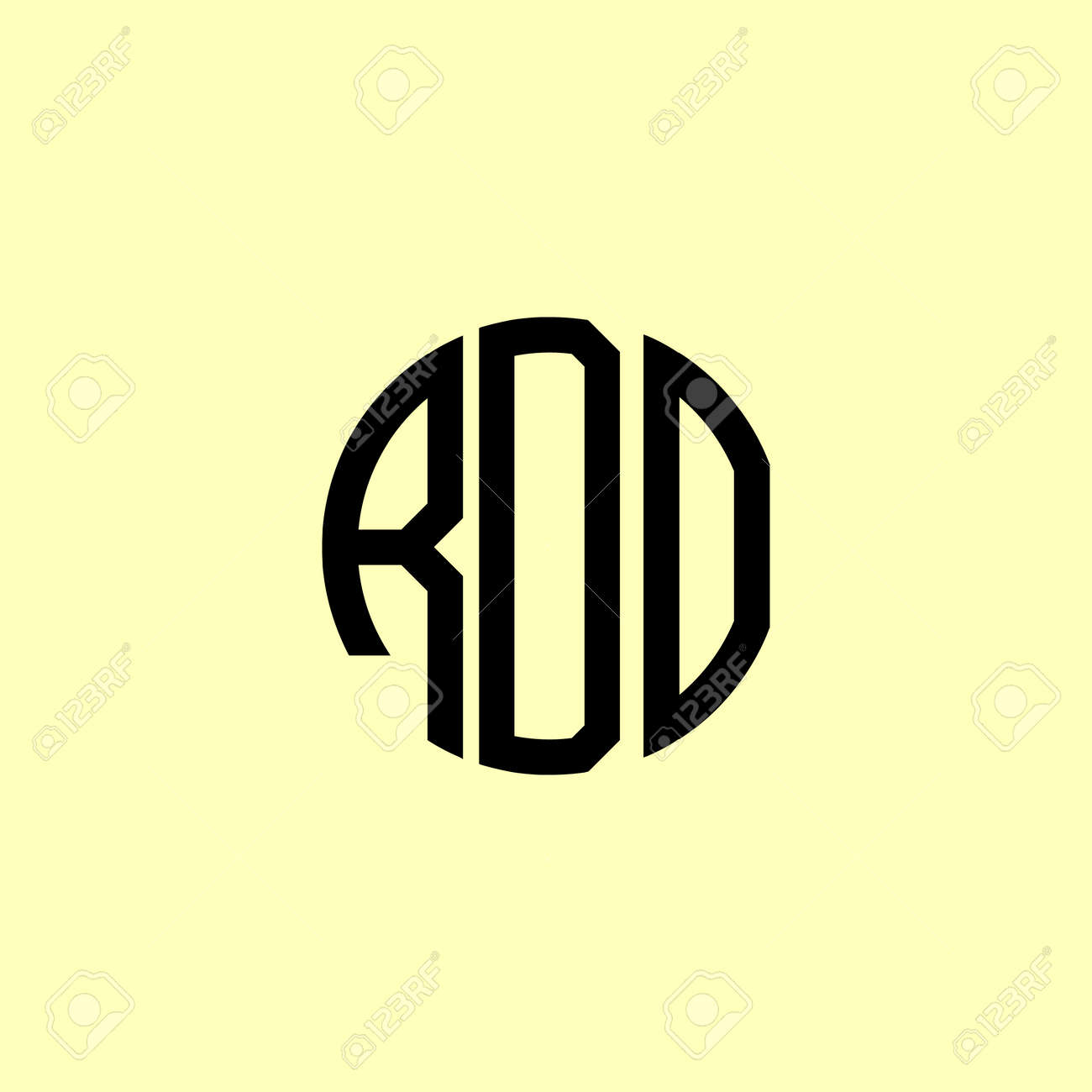 Creative Rounded Initial Letters RDO Logo. It will be suitable for which company or brand name start those initial. - 168950567