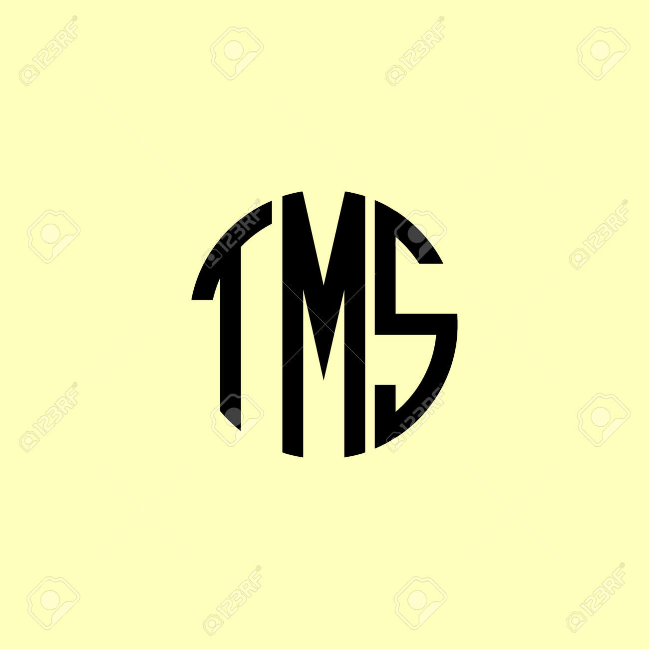 Creative Rounded Initial Letters TMS Logo. It will be suitable for which company or brand name start those initial. - 169465556