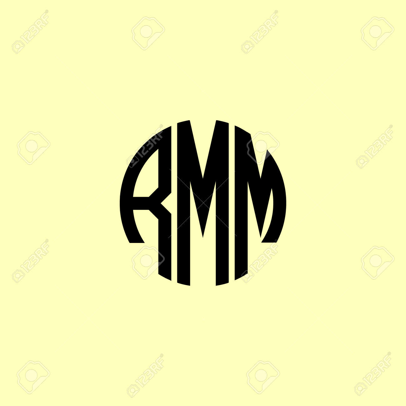 Creative Rounded Initial Letters RMM Logo. It will be suitable for which company or brand name start those initial. - 171682913