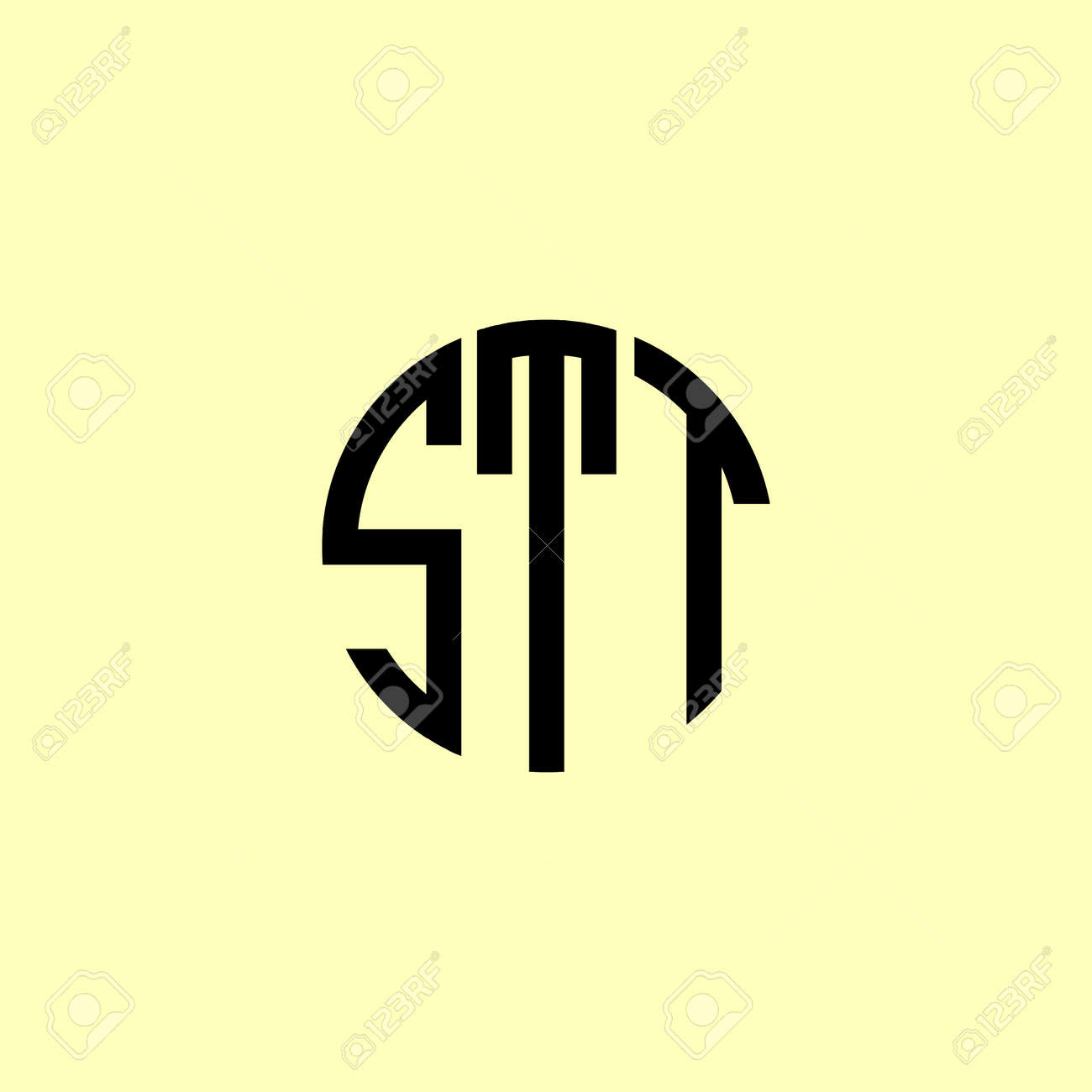 Creative Rounded Initial Letters STT Logo. It will be suitable for which company or brand name start those initial. - 171820229