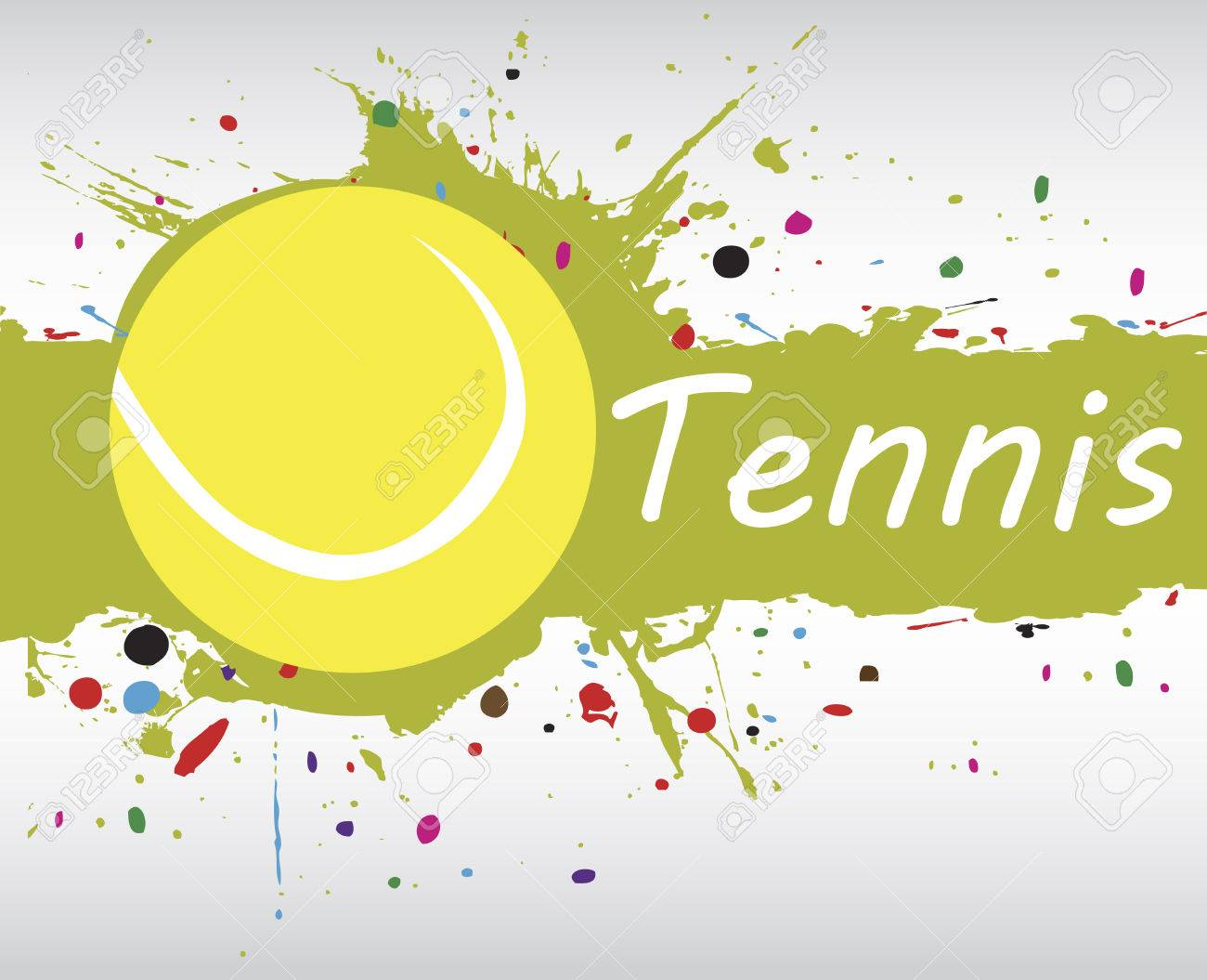 Abstract Green Background With Colorful Splash Tennis Banner Royalty Free Cliparts Vectors And Stock Illustration Image 41786304