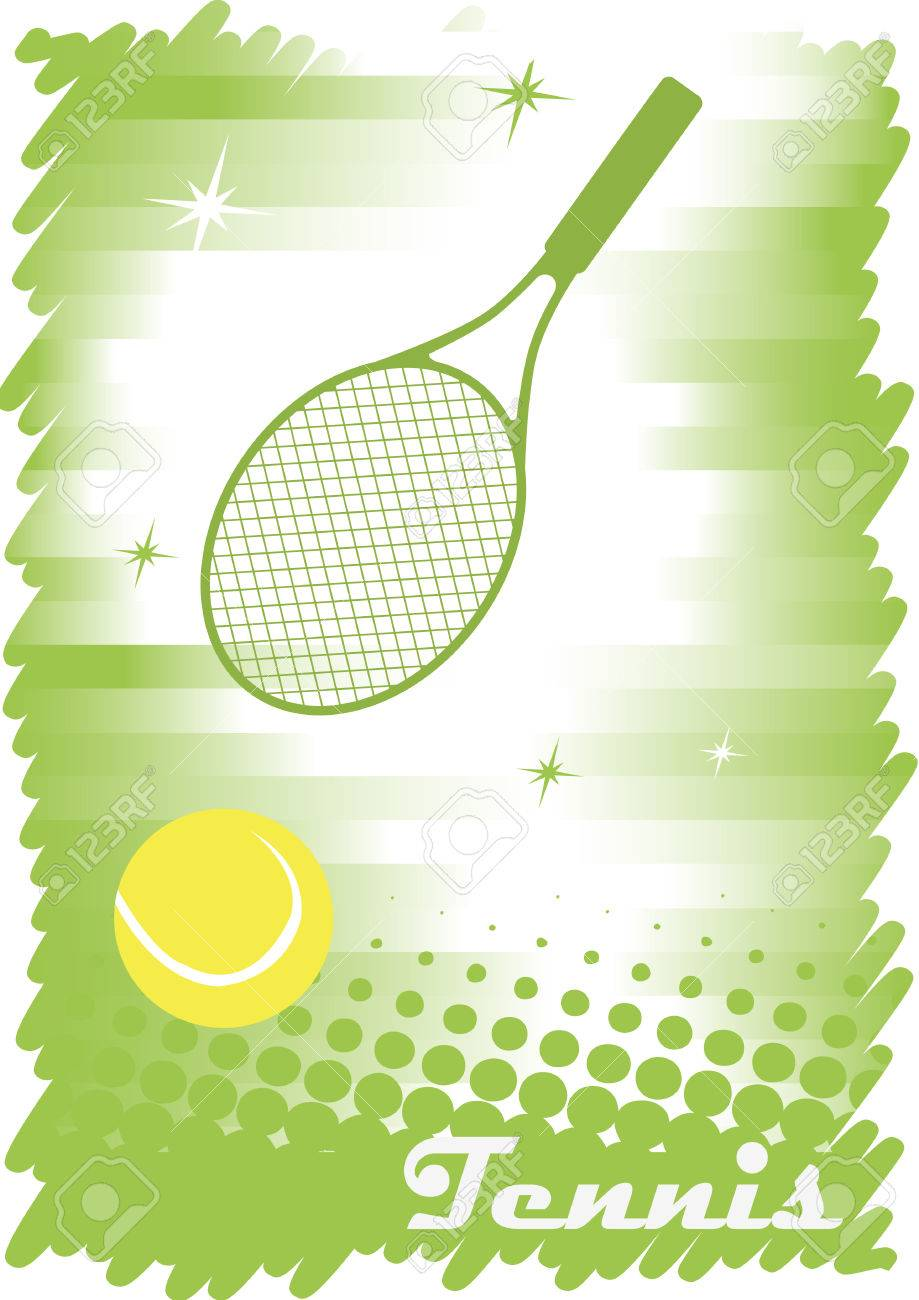 Green Tennis Court With Stars Abstract Tennis Banner Green Background Royalty Free Cliparts Vectors And Stock Illustration Image 41786313