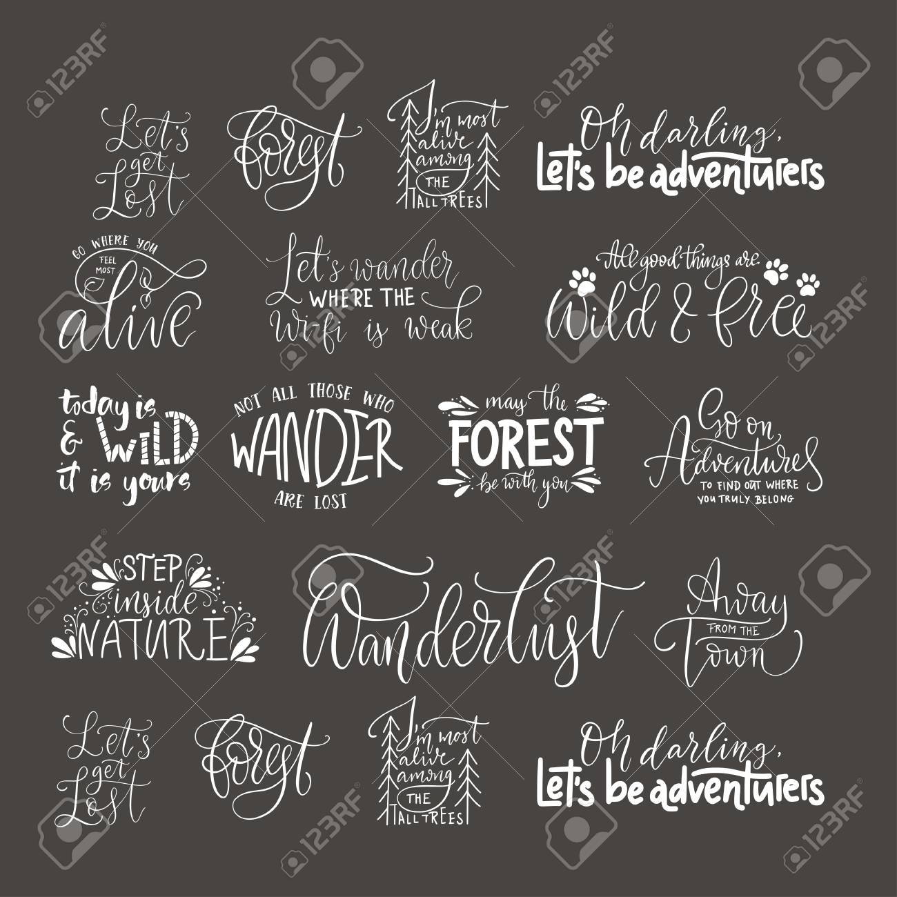 Outdoor Quotes Big Collection Of Adventure, Outdoors And Travel Vector Quotes  Outdoor Quotes
