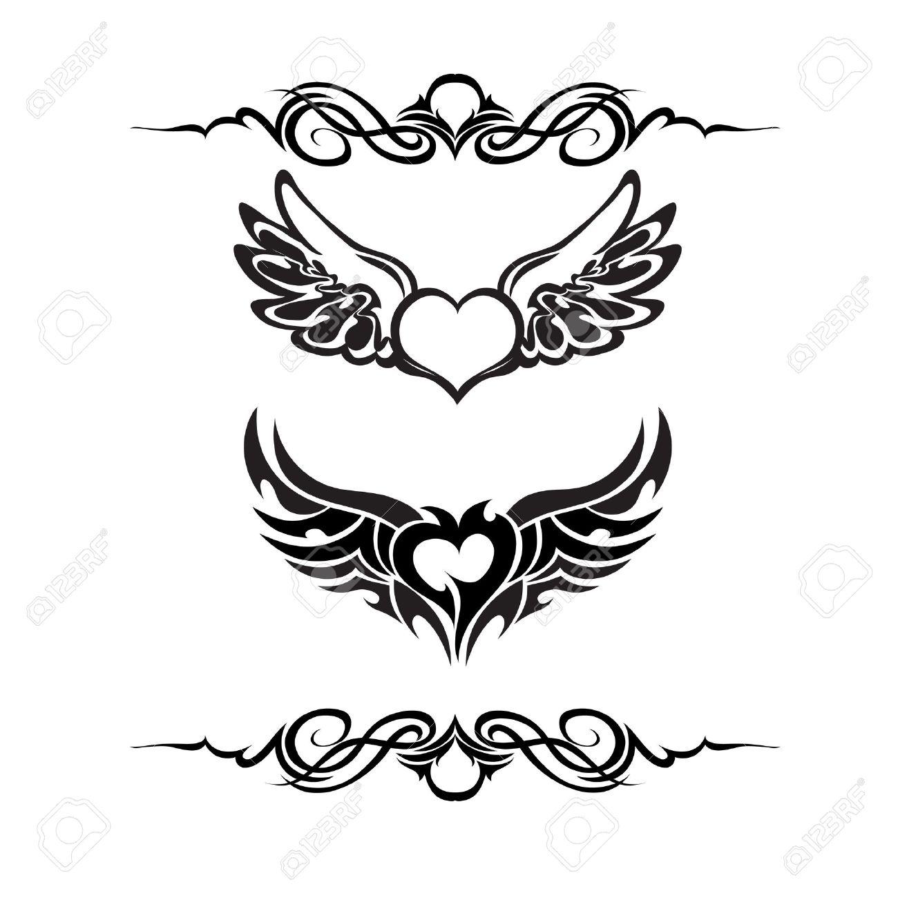 Tribal tattoo set vector Stock Vector - 14745830