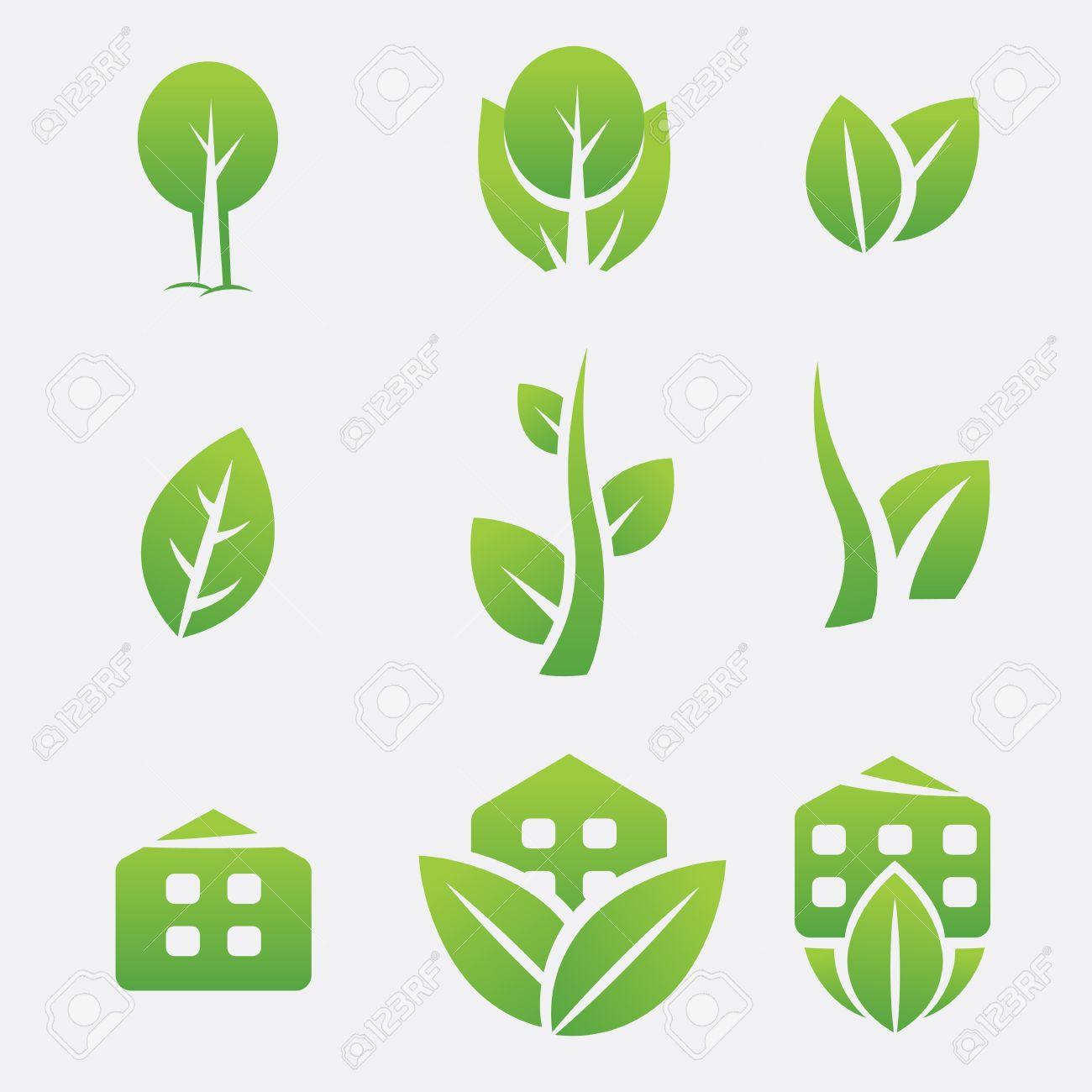 Green eco icons Stock Vector - 14809871