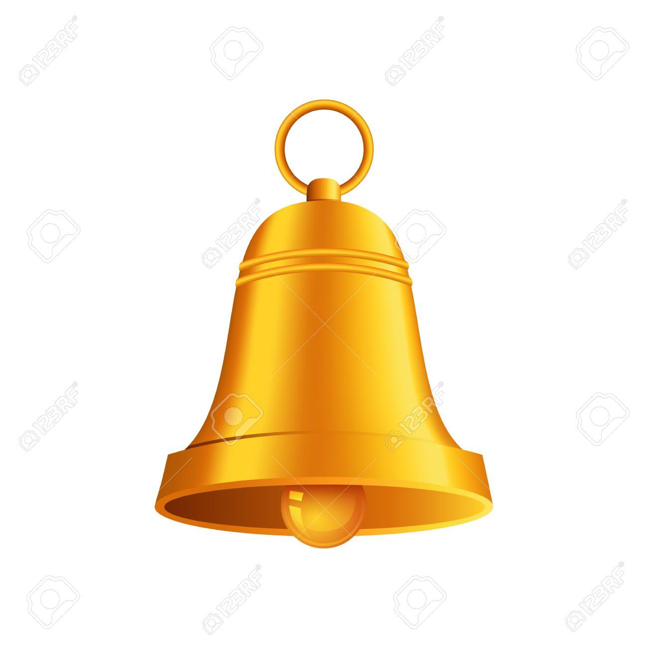 shiny golden Christmas bell - 15977500