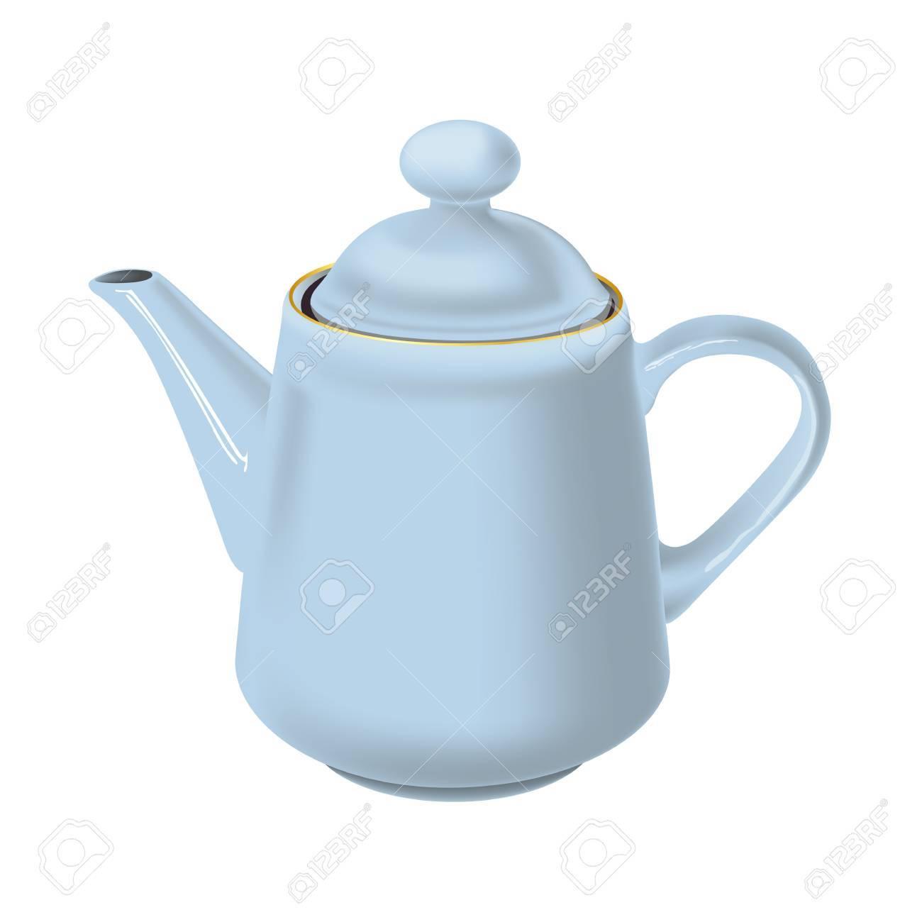 White teapot Stock Vector - 17105632