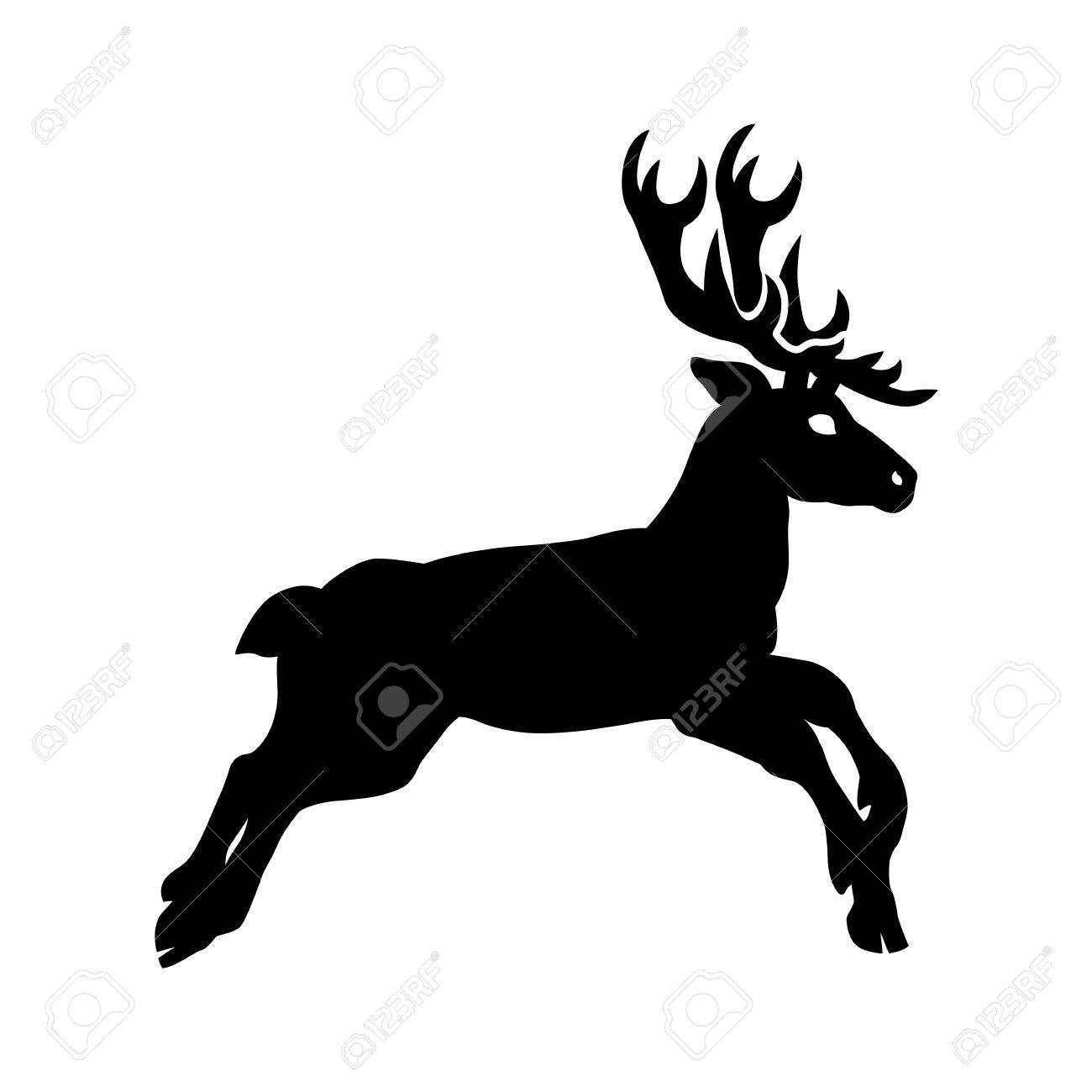 vector silhouette deer Stock Vector - 17105651