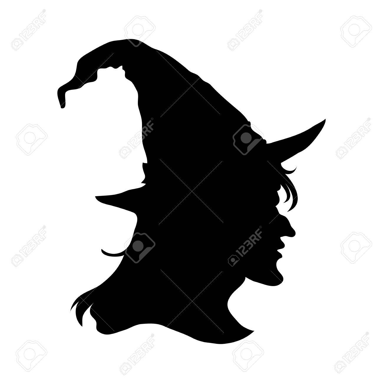 halloween witch head silhouette royalty free cliparts vectors - Chrispy Halloween