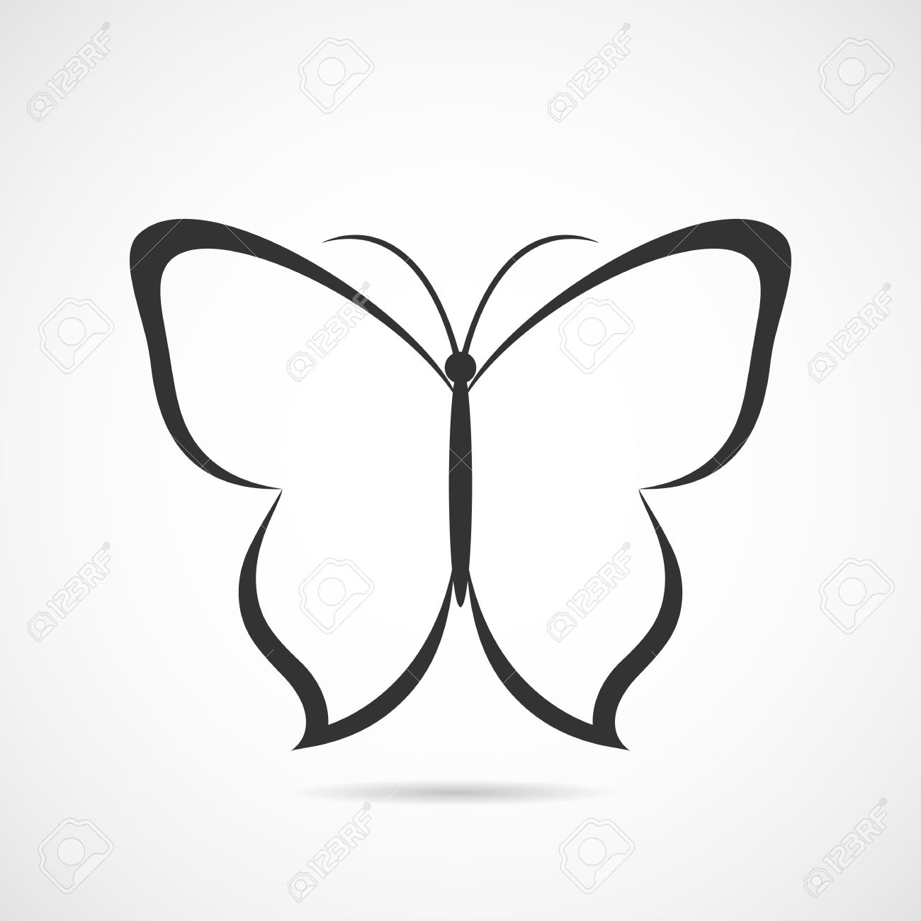 Vector butterfly icon or background royalty free cliparts vectors vector butterfly icon or background stock vector 27375707 biocorpaavc Image collections