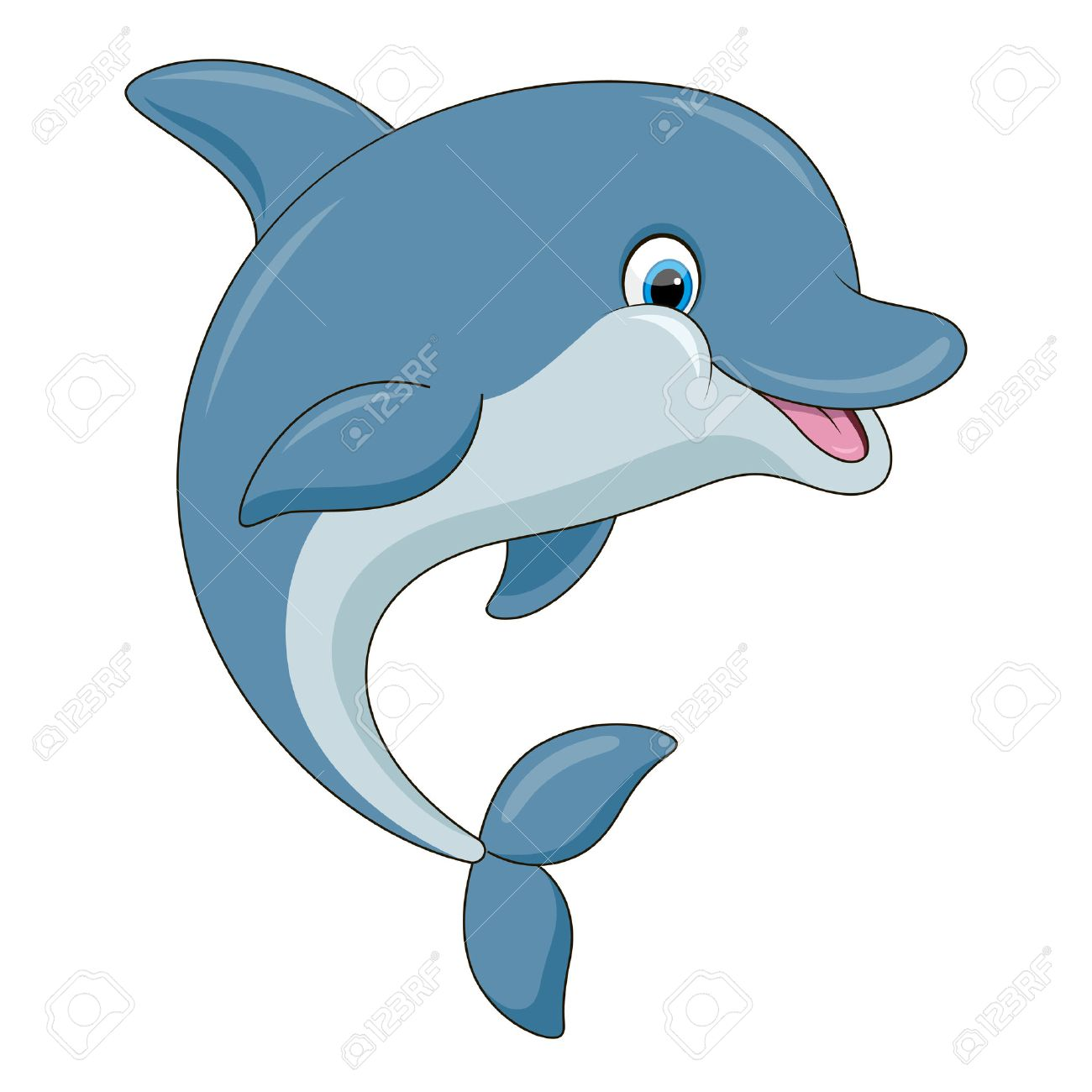 cute cartoon dolphin illustration with simple gradients all rh 123rf com dolphin pictures cartoon images dolphin cartoon images clip art