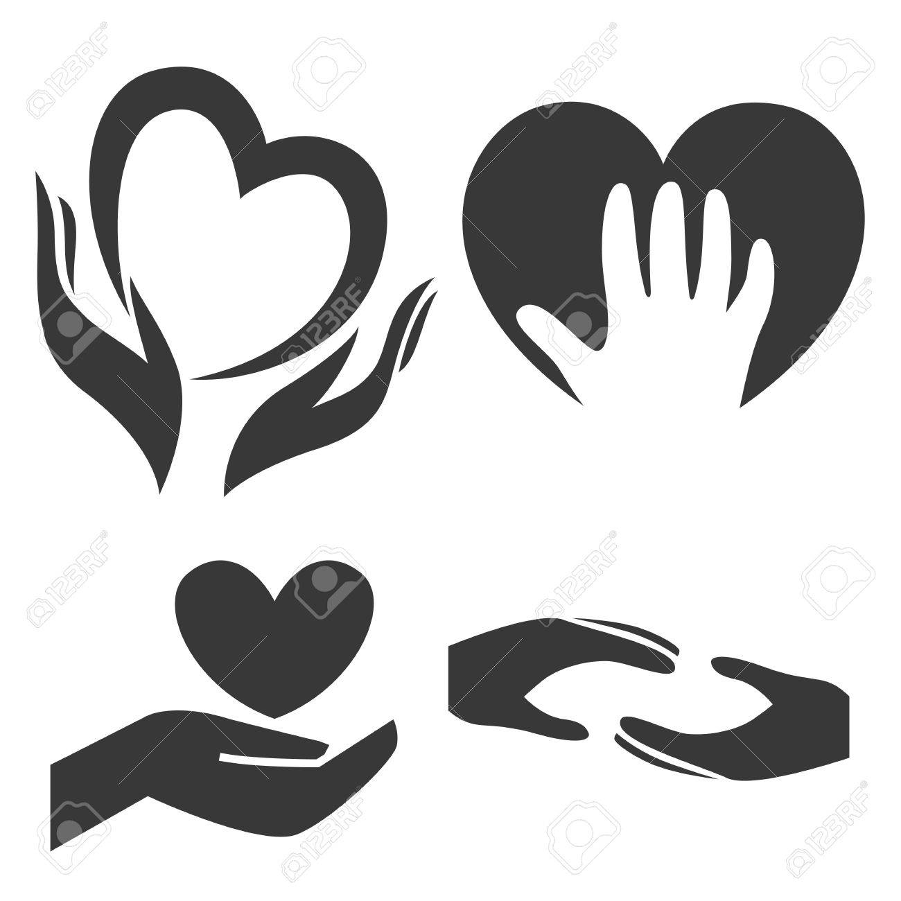 Heart in hand symbol sign icon template for charity health heart in hand symbol sign icon template for charity health voluntary biocorpaavc
