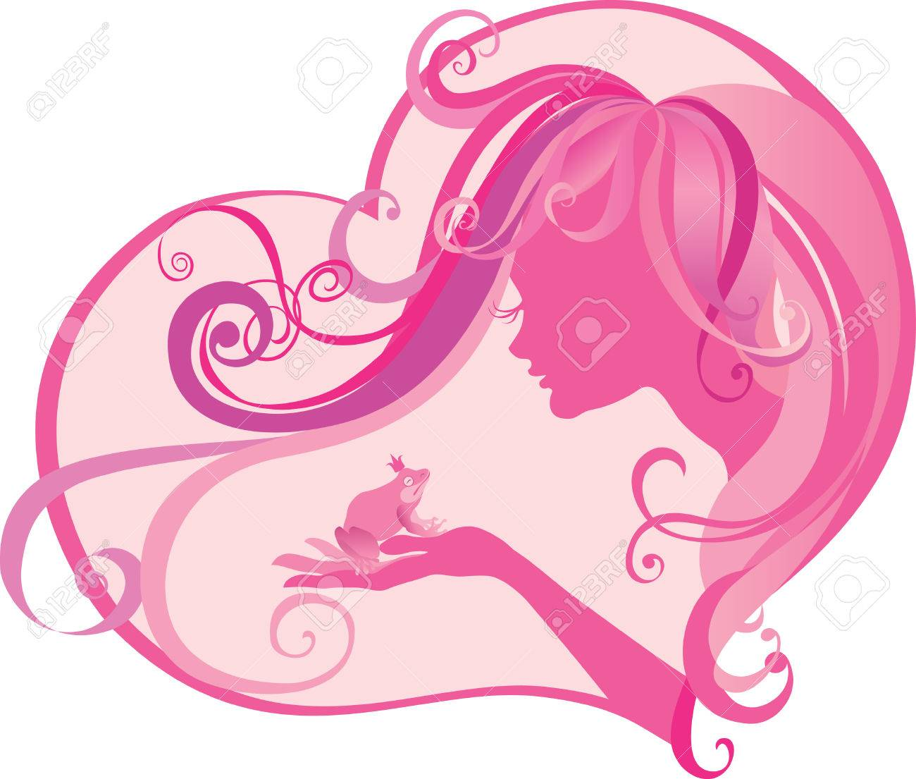 Vector illustration of  princess about to kiss her frog prince. Fairy tale Stock Vector - 4002693