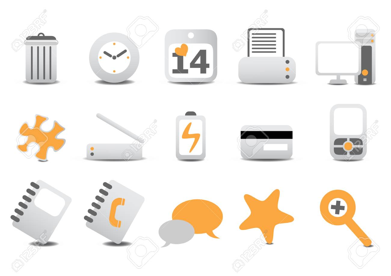 Vector illustration of different  Website and Internet icons Stock Vector - 4037305