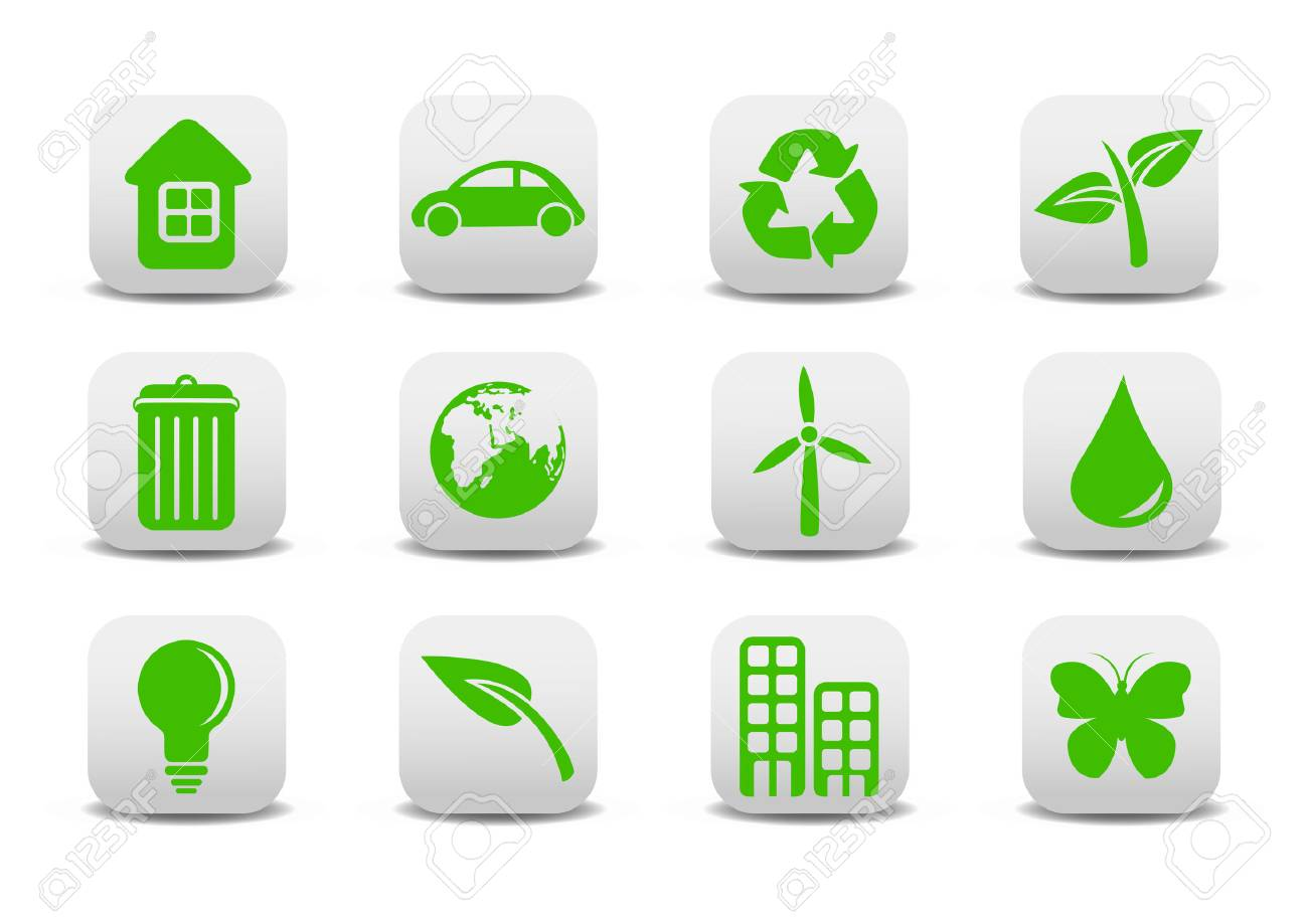 Vector illustration of ecological icons .You can use it for your website, application or presentation Stock Vector - 4055960