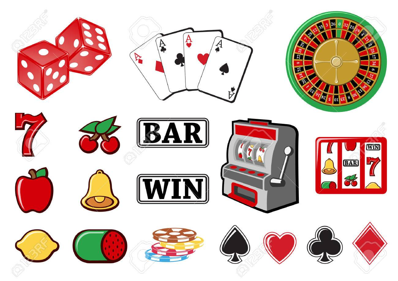 Vector illustration of  icon set or design elements relating to casino. Stock Vector - 4093891