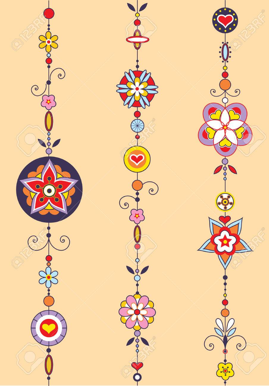 Vector Illustration of Decorative Wind Chimes with authentic ornament design Stock Vector - 4660721