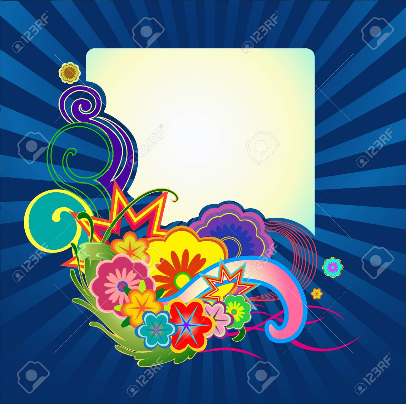 Vector illustraition of elegant floral frame Stock Vector - 4703597