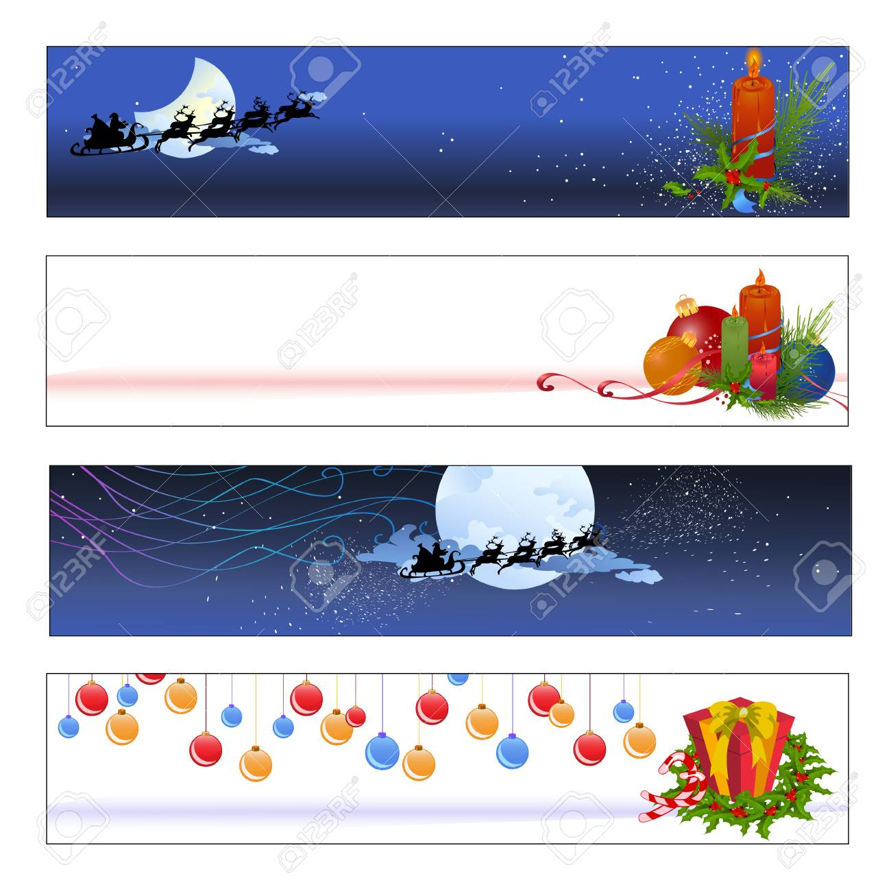 Vector illustration of funky Colorful new year/christmas party banners Stock Vector - 4724881