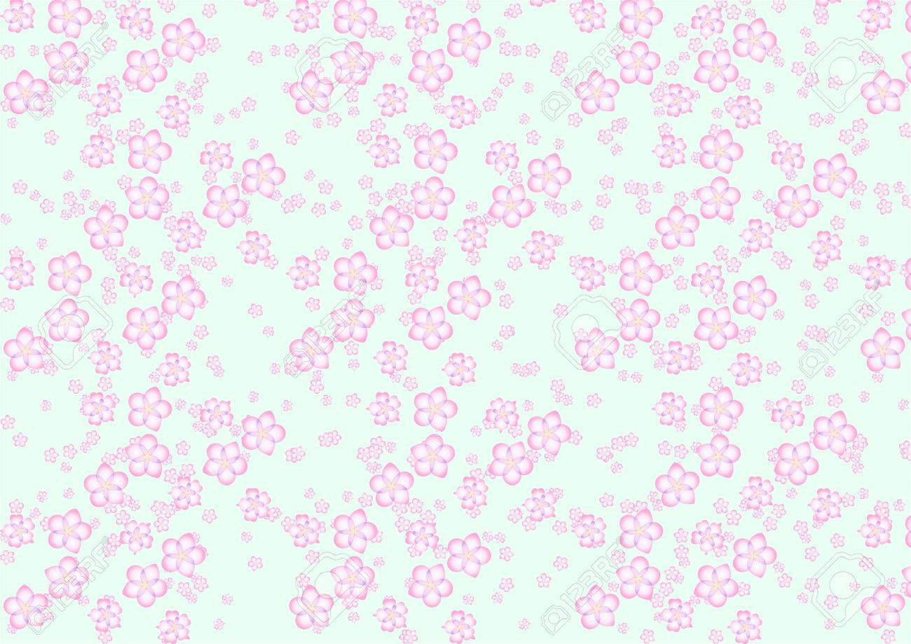 Vector illustration of different size sakura flowers pattern on the navy blue background Stock Vector - 4966118