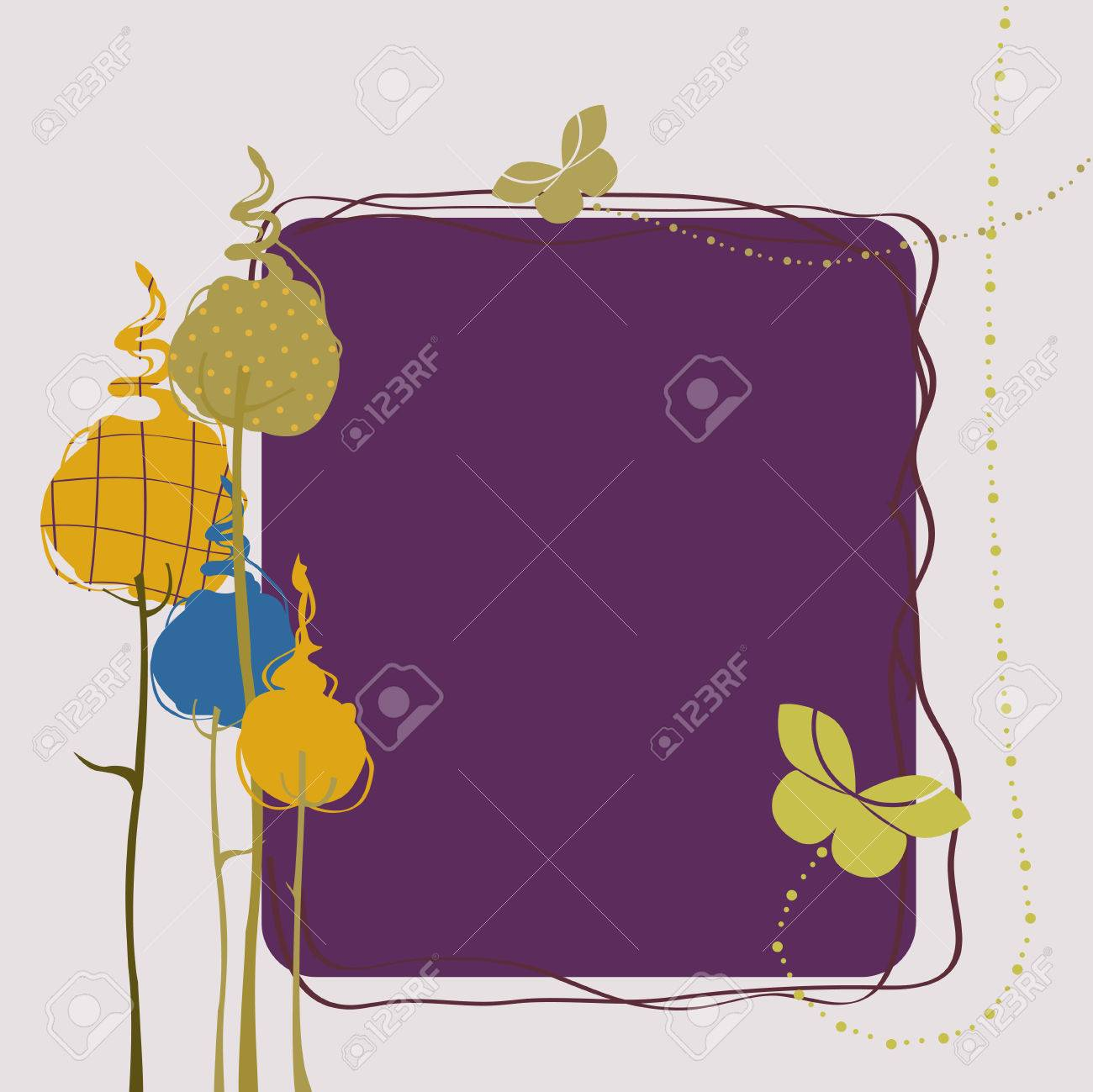 Vector Illustration of retro nature design greeting card with copy space for your text Stock Vector - 5082468