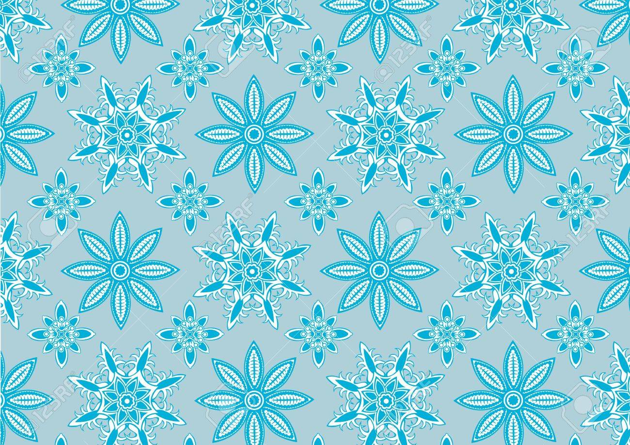 illustration of  Blue snowflake pattern . Winter season  design element that can be used as background Stock Photo - 6134844