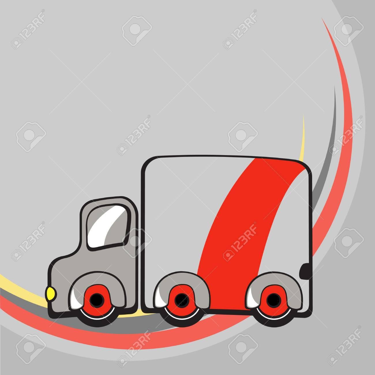 illustration of  Transport Cartoon  . Little funny truck. Stock Illustration - 6158460