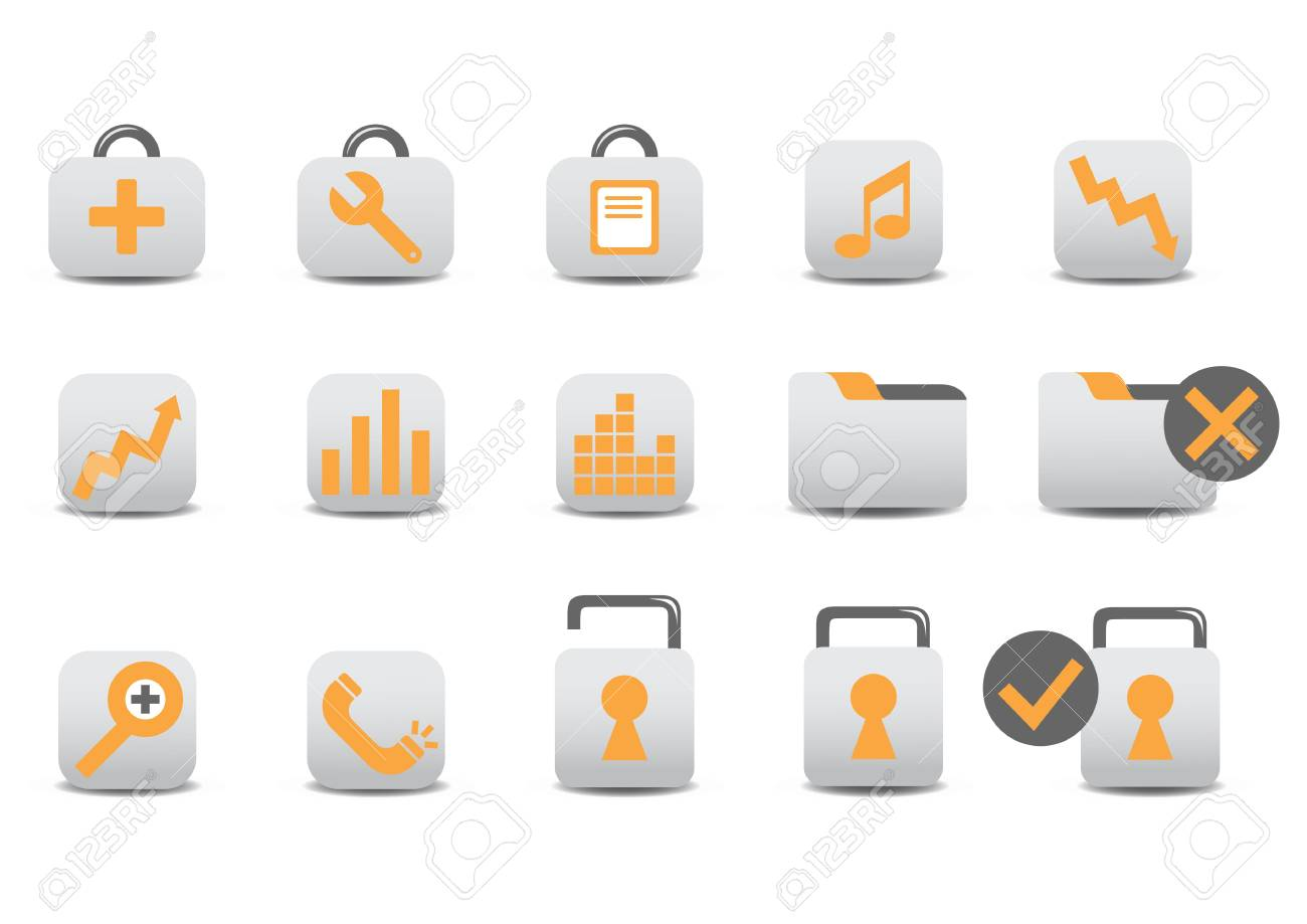 illustration of different Professional icons. You canuse it for your website, application, or presentation Stock Photo - 6283768