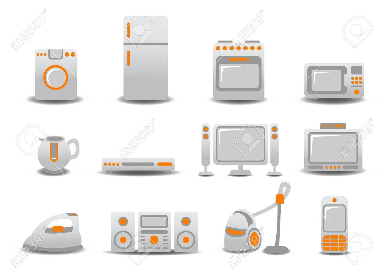 illustration of Household Appliances icons. You can decorate your website, application or presentation with it. Stock Illustration - 6283775